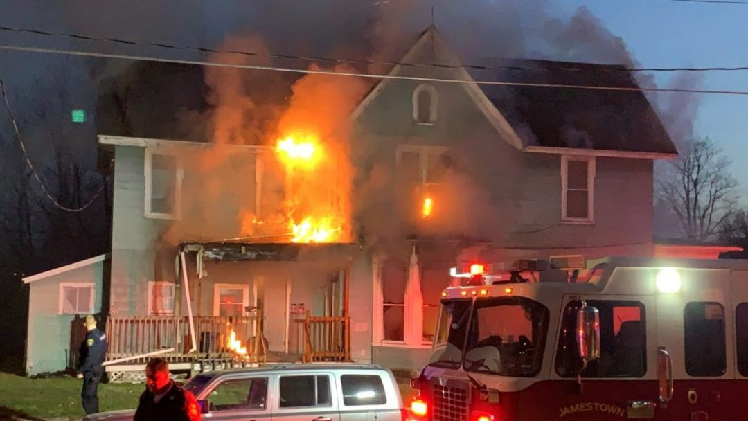 In heroic act Local 418 member saves two from burning house in Jamestown
